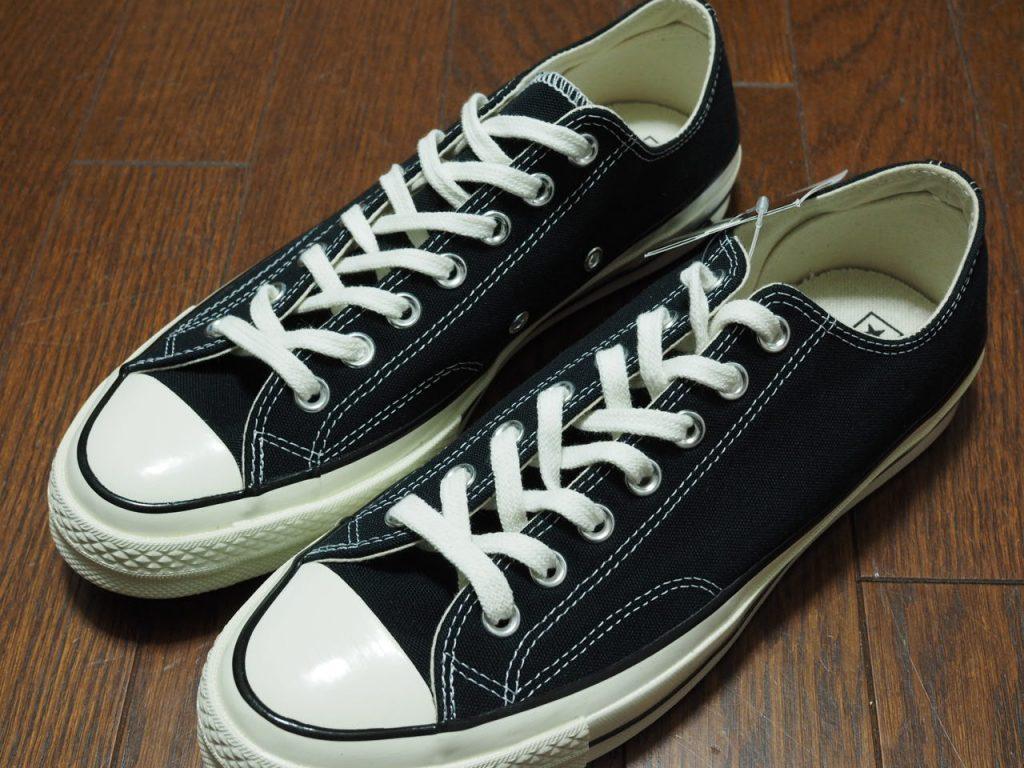 コンバース CT70の靴紐を黒にアレンジして、アディクト風にした